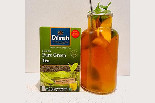 Peachy Green Tea Mocktail