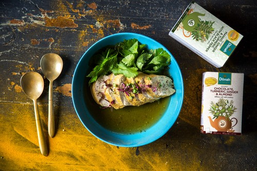 Black Pepper and Turmeric Poached Chicken Breast Consommé