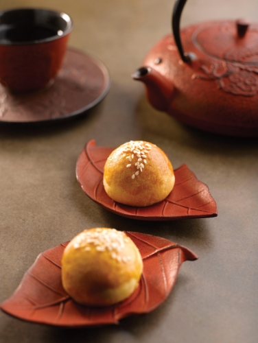 Shanghai Mooncake with Chocolate, Red Bean & Coconut Filling