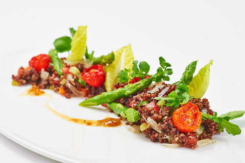 Dilmah Ginger Tea Marinated Red Quinoa Salad (Vegetarian)