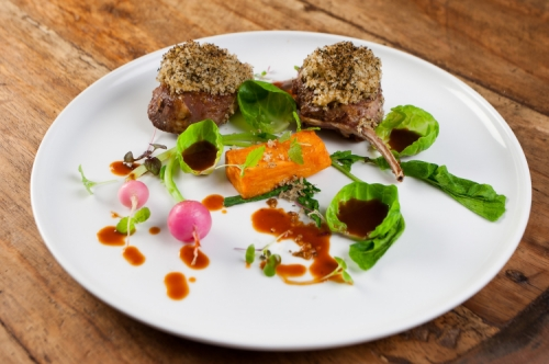 Roast lamb cutlets with Dilmah Peppermint Cinnamon and Clove Crust