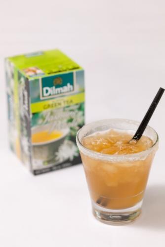 Frappe of Green Tea with Jasmine Petals, Ginger & Lemon
