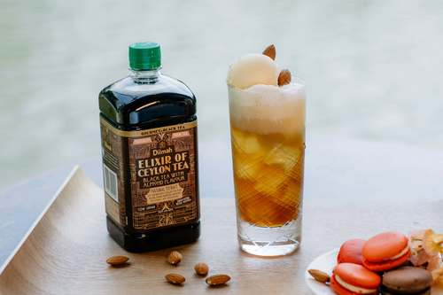 Black tea with Almond Ice Cream Soda