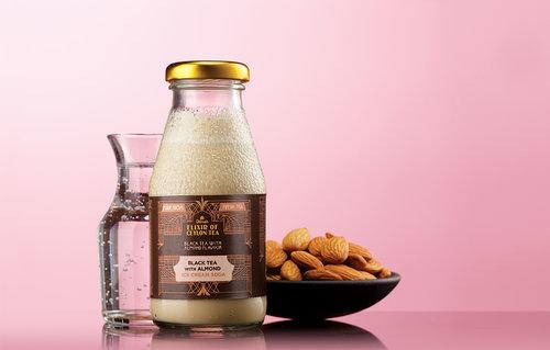 Black tea with Almond Ice Cream Soda