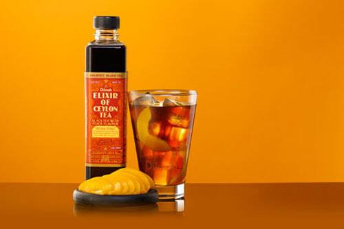 Black Tea with Peach Mocktail