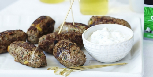 Gentle Minty Green Tea Lamb Koftas