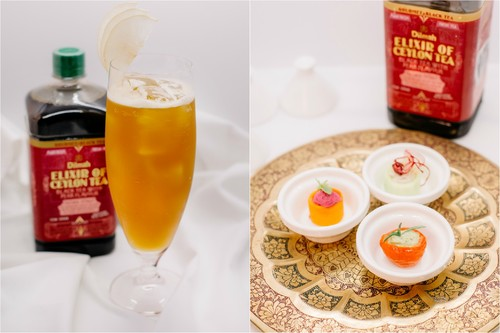 Trio of Moutabel paired with Pear beauty by Dilmah (ICED TEA)