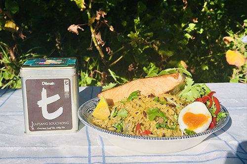 Kedgeree Re-Imagined With Hot Tea Smoked Salmon