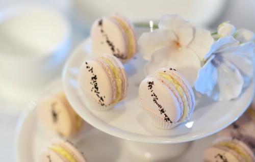 Rose and vanilla macaron