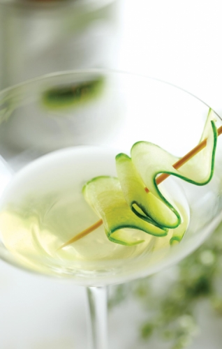 Gentle Minty Green Lady Martini