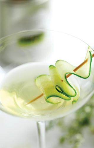 Gentle Minty Green Lady Martini