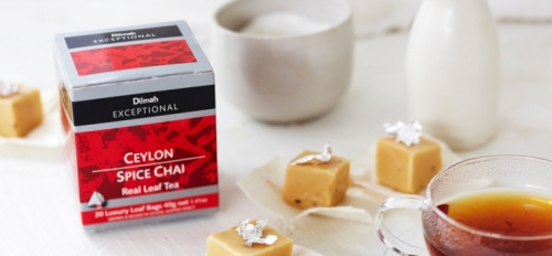 White Chocolate and Dilmah Spice Chai Tea-infused Fudge