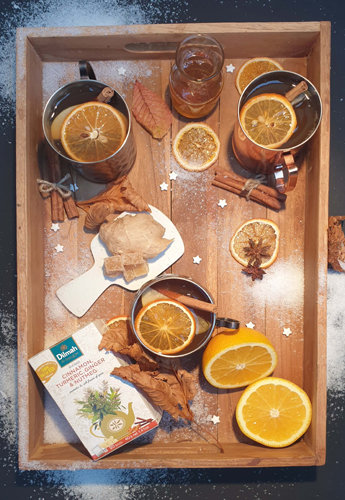 DilmahChocolate, Turmeric, Ginger & Almond Infusion with English Breakfast Winter Punch