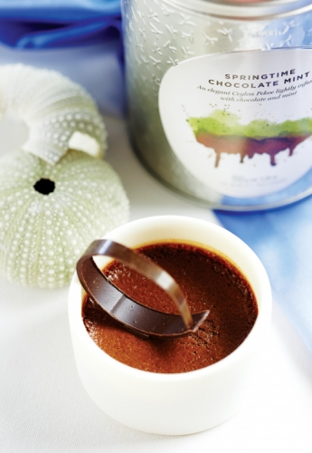 CHOCOLATE POT WITH SPRINGTIME CHOCOLATE MINT TEA