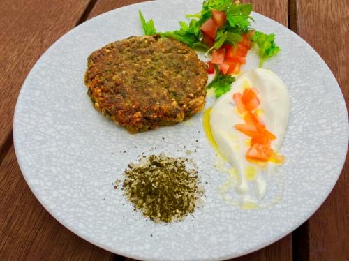 Park estate Emerald Green special OP Bulgur falafel With green tea salt
