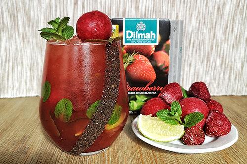 Virgin Strawberry Tea Mojito