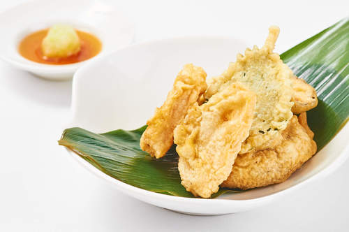Vegetable Tempura – Green Tea with Jasmine Flowers