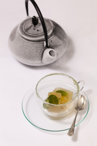 Dilmah Green Tea with Lemongrass & Moroccan Mint Ice Cubes