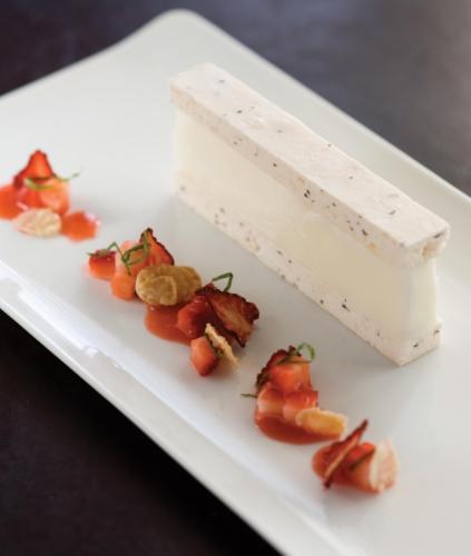 Almond Milk and Berry Sensation Vacherin with a Strawberry Salad