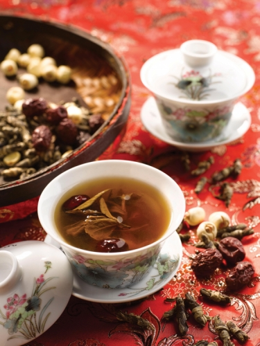 Wedding Tea t-Series Jade Butterfly Handmade White Tea with Lotus Seeds, Longans & Red Dates