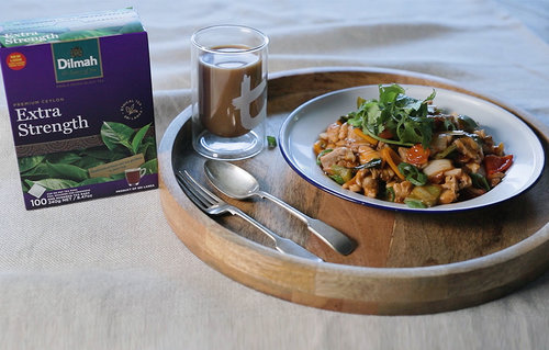 Devilled Chicken paired with Dilmah Extra Strength Tea