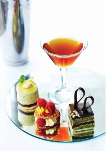 Green Tea Opera with Dark Chocolate