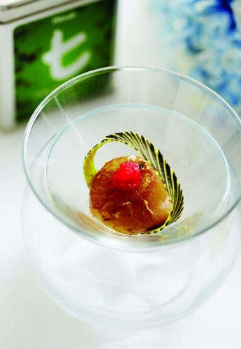 HOKKAIDO SCALLOP WITH PEPPERMINT LEAVES SAUCE (TEA INFUSED)