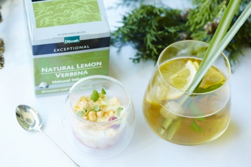 Natural Lemon Verbena Iced Tea Mocktail