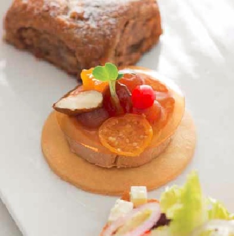Foie Gras Mousse with Dilmah Italian Almond Tea