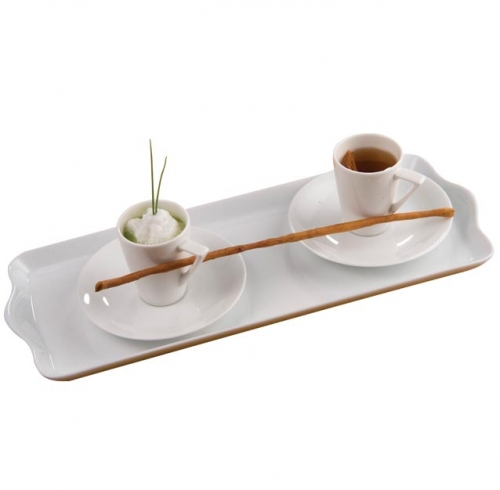 Demitasse Duo of Green Herb Cappuccino and Chamomile Vegetable Consommé