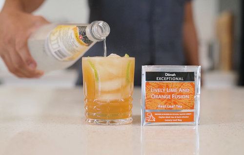 G & Tea with Dilmah Lively Lime & Orange