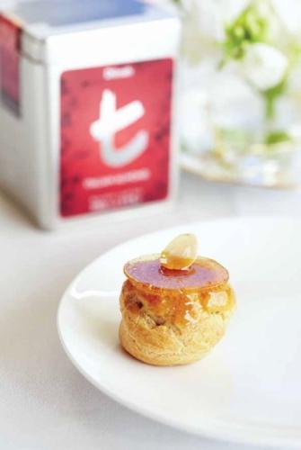 Italian Almond and zokoko profiterole